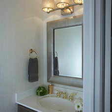 Traditional Powder Room by Susan Brunstrum of SWEET PEAS DESIGN INC