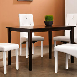 Warehouse of Tiffany - Warehouse of Tiffany 7-piece White Dining Room Set - Elegant and sophisticated,this furniture set from Warehouse of Tiffany features a white finish. A table and six chairs are included in this dining set.
