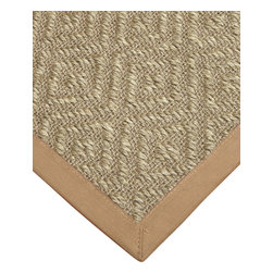 """Natural Area Rugs - """"Knightsen"""" Sisal Rug, 100% Natural Fiber - All natural sisal rug handcrafted by Artisan rug maker. Naturally durable and anti-static, this earth friendly rug is great for high traffic areas. Enjoy this sisal rug with cotton border and non-slip dotted felt backing along with its stylish and contemporary look. Variations are part of the natural beauty of natural fiber. We recommend a rug pad as it will protect not only your rug but your hardwood floor as well."""