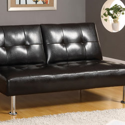 Furniture of America - Furniture of America Belmont-inspired Espresso Multifunctional Futon/ Sofa Bed - Turn your home into a functional space for houseguests with this comfortable brown faux leather futon-style sofa bed. With its solid wood frame and plush upholstered tufted seat, this sleeper sofa can easily convert any room into a sleeping space.