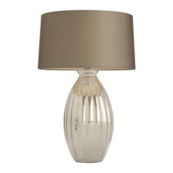 """Arteriors - Arteriors Home - Ellen Table Lamp - 42682-480 - Arteriors Home - Ellen Table Lamp - 42682-480 Features: Ellen Collection Table LampGlass FinishSheer shadeHand crafted. UL and CUL listed. Light bulbs not included. 3-Way rotary Switch type. At socket Switch locationA - E26 Socket type2-Prong and polarized Plug typeRecommended bulb: A19 incandescent. Wired for 110 - 120V100W Max wattage (per socket) Some Assembly Required. Dimensions: Overall : 18"""" W x 18'' D x 28'' HShade:18""""W x 18"""" D x 10'' H"""