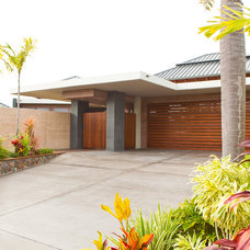 Tropical Garage And Shed by Tim Ditchfield Architects