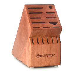 Wusthof - Wusthof 17-Slot Bamboo Block - The Wusthof 17 slot storage block holds 2 cooks knives, 6 steak knives and the half moon slot will hold a shear, fork, or a knife. Safely store your knives in a safe and convenient storage block.