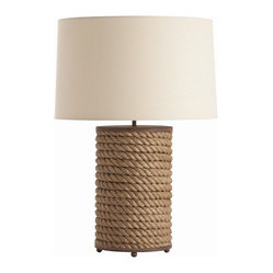 Vern Rusted Iron/Jute Rope Wrapped Lamp