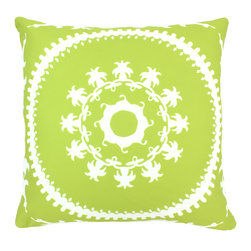 """DD - Medallion Outdoor Pillow 20"""" x 20"""" - This lovely Medallion Outdoor Pillow will add fun and flare to your outdoor space."""