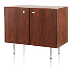 Herman Miller - Nelson Thin Edge Cabinet - This cabinet exudes midcentury modern style, yet it has the amazing ability to seamlessly blend with today's modern interiors. Designed by the iconic George Nelson, its modular aesthetic looks perfectly in the bedroom, dining room, home office or family room.