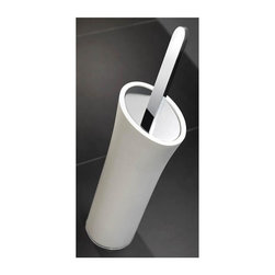 WS Bath Collections - Freestanding Toilet Brush Holder - Modern/contemporary design. Designer high end quality bathroom accessories. Premium quality: Avant-garde. Warranty: One year. Made from solid brass base. Polished chrome and matt white finish. Made in Spain. No assembly required. 4.9 in. W x 3.9 in. D x 16.9 in. H (10 lbs.)Belle from Pom Dor Spain the very well known brand name for premium and high-end bathroom furnishings; unique and fine bath complements, and accessories of various designs and materials; wood, chrome, gold, stainless steel, glass, and other possibilities, that provide inspirational solutions for every decor.