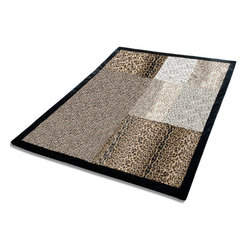 """Blancho Bedding - Onitiva - [Sex And The City] Animal Style Patchwork Throw Blanket (61""""-86.6"""") - This animal skin patchwork throw blanket measures 61 by 86.6 inches with comfortable filling. Comfort, warmth and stylish designs. Animal throw blankets are available in Leopard, Tiger, Cow, Dalmatian, Zebra, Animal  Patchwork, etc. Whether you are adding the final touch to your bedroom or rec-room these patterns will add a little whimsy to your decor. This animal skin throw blanket will make a fun additional to any room and are beautiful draped over a sofa, chair, bottom of your bed and handy to grab and snuggle up in when there is a chill in the air. They are the perfect gift for any occasion! Keep one in your car for staying warm at  outdoor sporting events. Place one on your couch or favorite upholstered chair. Have extras on hand for sleepovers and overnight guests. Machine wash and tumble dry for easy care. Will look and feel as good as new  after multiple washings!"""