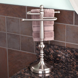Ridge Shape Countertop Towel Bar - Enhance your bathroom decor with a countertop towel rack. The Ridge Shape Countertop Towel Holder is ideal for your hand towels, conveniently keeping them within reach.