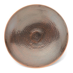 Achla - Burnt Copper Birdbath - The refined glamour of burnt copper is allowed to radiate naturally when placed in any outdoor setting.  Its hand hammered finish provides a fascinating texture, coupled with the sophistication of its antique finish for attractive and intelligent décor. * Hand hammered copper with an antique finish14 in. dia. x 4 in d.. Couple your birdbath w any of our stylish Birdbath Stands