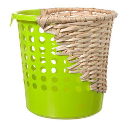 Bow Bin - I think this wicker plastic hybrid wastepaper basket is a total hoot. Oh, and it's Fair Trade, which is always a feel-good kinda thing.