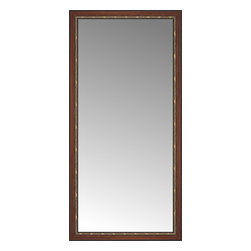 """Posters 2 Prints, LLC - 41"""" x 83"""" Malabar Walnut Custom Framed Mirror - 41"""" x 83"""" Custom Framed Mirror made by Posters 2 Prints. Standard glass with unrivaled selection of crafted mirror frames.  Protected with category II safety backing to keep glass fragments together should the mirror be accidentally broken.  Safe arrival guaranteed.  Made in the United States of America"""