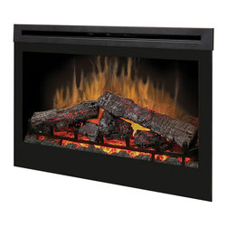 "Duraflame - Dimplex 33-Inch Plug-in Electrical Fireplace - DF3033ST - Dimplex 33"" Self-trimming Electric Fireplace Insert features realistic flame image, inner glow logs and ember bed to create a realistic fire. The Dimplex 33"" Electric Fireplace Insert has an adjustable interior light and flame speed control. The Dimplex DF3033ST from Electric Fireplaces Direct has a 5-year limited warranty."