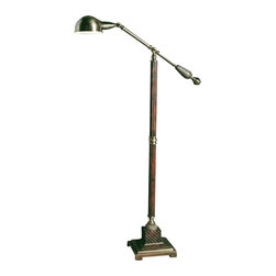 Uttermost - Carolyn Kinder Dalighton Floor Lamp - Designer: Carolyn Kinder. 57 in. H. Lightbulb: (1) 60W A19 Med F Incandescent (not included). Assembly instructionsThis handsome floor lamp has a burnished wood tone finish with aged bronze metal detail.