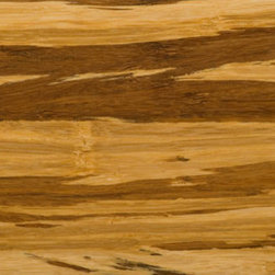 Strand Tiger Wide Plank - Our tiger strand woven floor is great for people interested in an eye-catching flooring option. It's made from strands of natural (lighter) and carbonized (darker) bamboo woven together into a super-strong wide plank. Because of this manufacturing process, every board is unique.