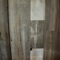 Reclaimed Faded White & Gray Barn Wood - Our gray and white reclaimed barn wood can be used to make terrific feature walls and accents.