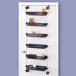 6-Basket Over-Door Unit - Here's an over-the-door idea for storage, but this one really holds everything at eye level to keep those often-used items handy.