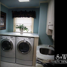 Traditional Laundry Room by Krista Agapito - S&W Kitchens, Inc.