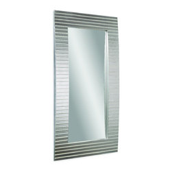 Bassett Mirror Co - Bassett Mirror Co M3468BEC Tambour 83 Leaner Mirror - This mirror is a refreshing addition. A versatile design and adaptable aesthetics work together in this mirror to bring you an all-inclusive package that provides you with fashionable utility. The reflective surface adds an open appearance which provides