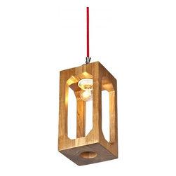 ParrotUncle - Wood Rectangular Frame Lantern Pendant Lamp - Wood Rectangular Frame Lantern Pendant Lamp
