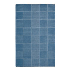 """Nourison - Nourison Westport WP31 2'6"""" x 4' Blue Area Rug 00233 - This stunning area rug is anything but monotone...the stylish box effect adds gorgeous texture and lends a cool, oceanic feeling to the harmonious blue tones. A deceptively simple approach to floor covering that brings classic elegance to the room."""
