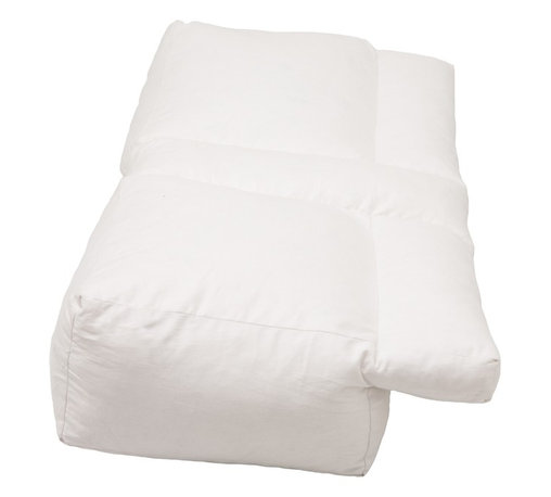 Living Healthy Products - Better Sleep Pillow - POLYESTER - Perfect pillow for every type of sleeper. Uniquely designed with a lateral recess along the entire length of the pillow and a center tunnel for alternative arm positions. Provides support for your arm, head and neck, reducing shoulder discomfort, numbness and tingling. Aligns your neck and spine properly, keeping your airways open, reducing snoring and sleep apnea. Proper spinal alignment prevents morning stiffness. Developed with your comfort in mind, a very soft velour zippered machine washable cover. Decreases morning stiffness and shoulder pain. Opens airways, cease the cause of snoring and sleep apnea. Support your body frame for proper alignment of the spine. Improves arm circulation. No more numbness or pain. Reduces lower back and neck pain. Multi-positional, multi-functional. Center and side recess to accommodate your arm, reducing pressure. Extra-soft removable, washable cover. Construction: Constructed of high quality, hypoallergenic cozy fiber fill gel polyester .