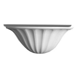"""Inviting Home - Angela Wall Sconce - wall fixture for indirect lighting 15-3/8""""H x 6-1/8""""W x 7-1/2""""D Paintable wall lighting fixtures point light towards the wall. Reflections from the wall light gently wash the wall surface creating a very soft pleasing highlight to the eye. This lighting fixture can be painted or faux finished. The options for customizing these lighting fixtures are endless. Wall lighting fixtures are made from a very durable material that is moisture tolerant and heat resistant so you can custom finish them with any household paint. UL - approved hard-wire in dry location. Uses x1 standard 60 Watts maximum light bulb bulb not included."""