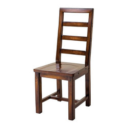 Parsons Dining Chair- - Elegant, Eco-Friendly and Reclaimed. This ladder-back chair is individually hand-crafted from salvaged and recycled hardwoods such as fir and spruce and finished with up to 18 hand-finished color applications.