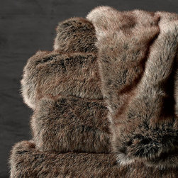 Luxe Faux Fur Throw, Coyote - I feel that no sleeping space is complete without one of these beautiful throws. I just can't enough of them!