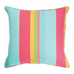 Pine Cone Hill June Stripe Decorative Pillow - Use this stripe pillow for an explosion of summer color!