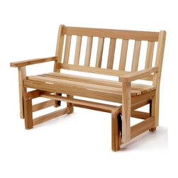 All Things Cedar - Cedar Patio Glider - Experience the smooth, rhythmic motion of our Cedar Glider. Snug fitting construction for years of durable use. Item is made to order.