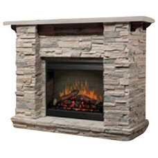 Rustic Indoor Fireplaces by Cymax