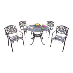 """Oakland Living - Oakland Living Mississippi Lattice Pattern 42"""" 5-Piece Dining Set - Oakland Living - Patio Dining Sets - 201121205AB - About This Product:"""