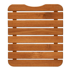 TEAKWORKS4U - Teakworks4u Mini Teak Bath Mat,Burmese Teak,Each - Teakworks4u Mini Teak Bath Mat is ideal for indoor or outdoor use. It is designed for small spaces. The mat fits into a 15 quart bucket to be used to wash feet off.