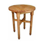 Million Dollar Rustic - Round Pine Bar Table - Plain round legs. Warranty: One year. Made from white pine. 36 in. Dia. x 44 in. H (59 lbs.)Great for two to three people.