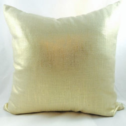 EVERYTHING GOLD - Solid gold metallic linen pillow.