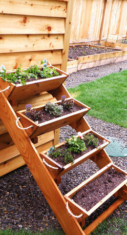 36-Inch Cedar Gardening Window Box Planter by Roped on Cedar - I can see my herbs or strawberries thriving in this precious window box planter. I can keep this close to my back porch to enjoy all the fresh possibilities.