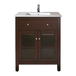 Avanity - Lexington Vanity Only - The best of both worlds. This gorgeous vanity is equally suited to modern and traditional settings. It has a clean, streamlined look that anchors your bath, and a rich, espresso finish for a shot of warmth.