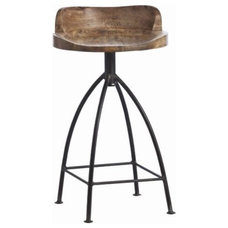 Henson Wood and Iron Swivel Counter Stool - Clayton Gray Home!