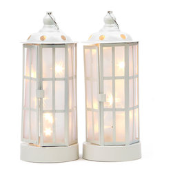 LampLust - Holographic Star Lanterns, Small - Set of 2 - These seemingly traditional lanterns have a beautiful surprise inside. When placed in the on position they illuminate holographic shooting stars in 3D. Traditional lanterns have a candle inside, but the light in these lanterns is made up of 10 star shaped LED lights. The walls of each lantern are made up of PVC liner that allow for this stunning light show.