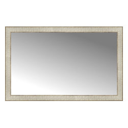 """Posters 2 Prints, LLC - 38"""" x 24"""" Libretto Antique Silver Custom Framed Mirror - 38"""" x 24"""" Custom Framed Mirror made by Posters 2 Prints. Standard glass with unrivaled selection of crafted mirror frames.  Protected with category II safety backing to keep glass fragments together should the mirror be accidentally broken.  Safe arrival guaranteed.  Made in the United States of America"""