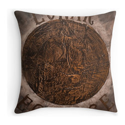 """Lunar Eclipse throw pillow by Ruby Rose Studio - Throw pillow features the original artwork of Ruby Rose Studio.  Original textured painting titled, """"Alchemist's Dream."""" Available in various sizes, with or without the insert."""