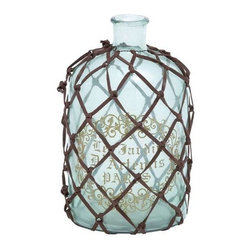 "Benzara - Glass Bottle Elegant Classic Design - Glass Bottle Elegant Classic Design. Featuring an elegant classic design, this Glass Bottle makes a perfect addition to any traditionally styled kitchen setting. It comes with following dimensions: 7"" W x 7"" D x 12"" H."