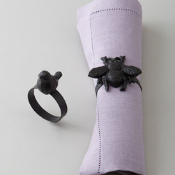 'Bee' Napkin Rings - I'm putting these darling bee napkin rings on my list.