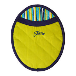 Town & Country for Homer Laughlin - Fiesta Oven Pot Mitt - Make cooking a colorful event with these oval-shaped oven mitts. Cotton fabric with a heat-resistant neoprene rubber keeps your hands safe from the heat, while the different color combinations allow you to coordinate them with any decor.