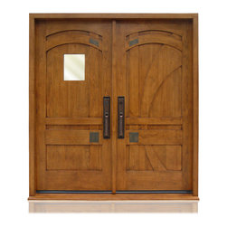 "Craftsman Collection | 3037 | 1-2 - Species: Superior Alder, Distress: Smooth, Iron Work Color: ORB, Hinges : 6.- 5"" Ball Bearing Hinges ORB, Exterior Door"
