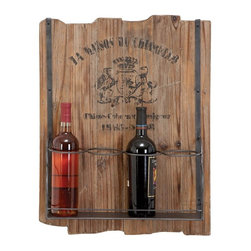 Woodland Imports - Woodland Imports La Maison Jagged Wood Plaque 4 Bottle Wall Wine Rack Multicolor - Shop for Wine Bottle Holders and Racks from Hayneedle.com! Add a touch of country class to your home wine collection with the Woodland Imports La Maison Jagged Wood Plaque 4 Bottle Wall Wine Rack. Sturdily crafted of solid hardwood with a raw natural finish this wall-mounted rack features a French-inspired motif and carries up to four of your favorite wines.