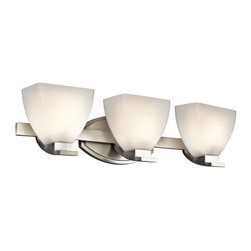 "Kichler - Kichler 45115NI Claro 24"" Wide 3-Bulb Bathroom Lighting Fixture - Product Features:"