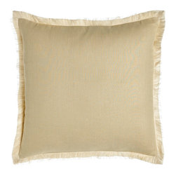 Eastern Accents - Bisque Fringed Linen Pillow - Eastern AccentsBisque Fringed Linen Pillow
