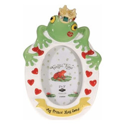 WL - 2 x 3 Inch My Frog Prince Has Come Kissing Frog Picture Frame - This gorgeous 2 x 3 Inch My Frog Prince Has Come Kissing Frog Picture Frame has the finest details and highest quality you will find anywhere! 2 x 3 Inch My Frog Prince Has Come Kissing Frog Picture Frame is truly remarkable.